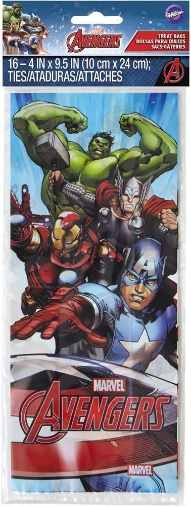 NEW Avengers Marvel Treat Bags 16 ct from Wilton 4110