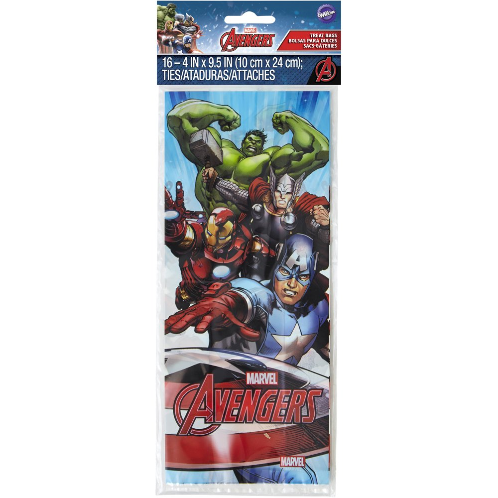 Wilton 16 Count Marvel Avengers Treat Bags, Multicolor