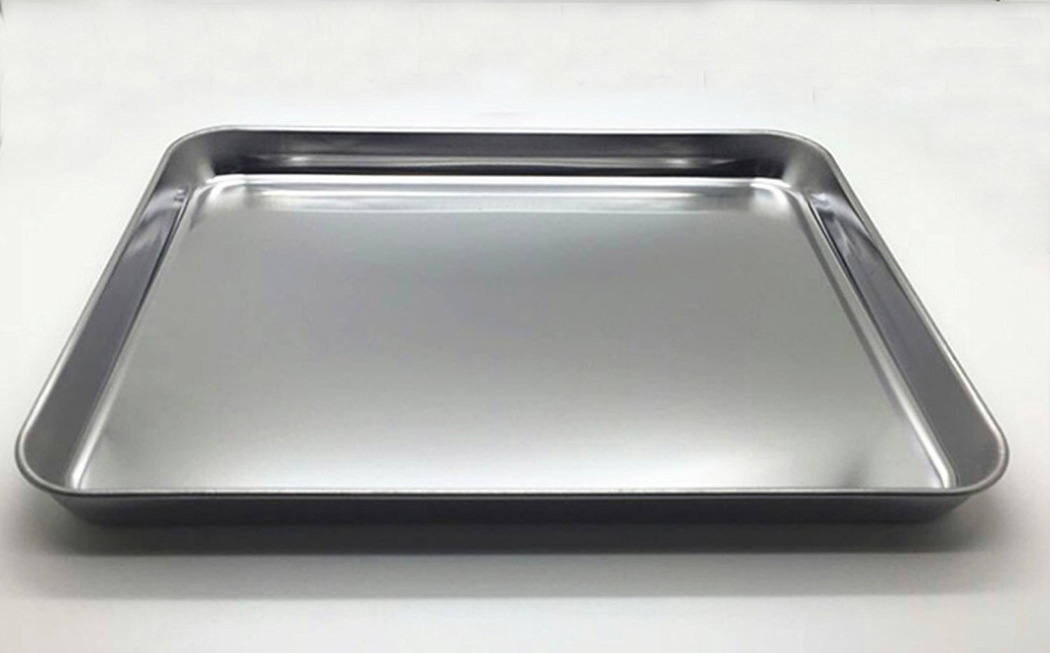 Aeehfeng Stainless Steel Toaster Oven Pan Tray Ovenware, Big Size 12'' x 10'' x 1'', Rust Resistant & Healthy, Mirror Finish & Deep Edge, Easy Clean & Dishwasher Safe by aeehfeng (Image #3)