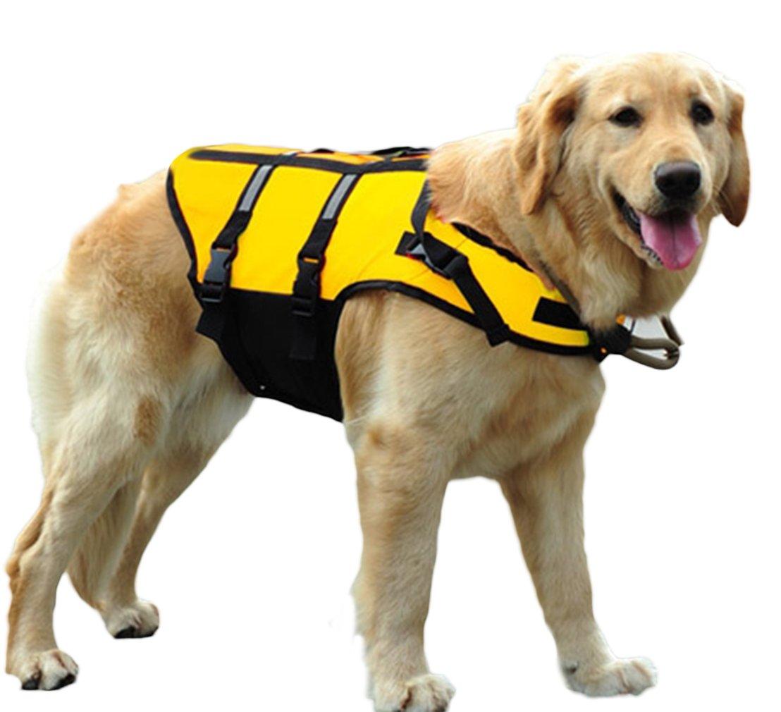 V-SOL Chaleco Salvavidas para Perro Seguridad para Natación Ajustable Amarillo Asia L Cuello 54-63cm: Amazon.es: Deportes y aire libre