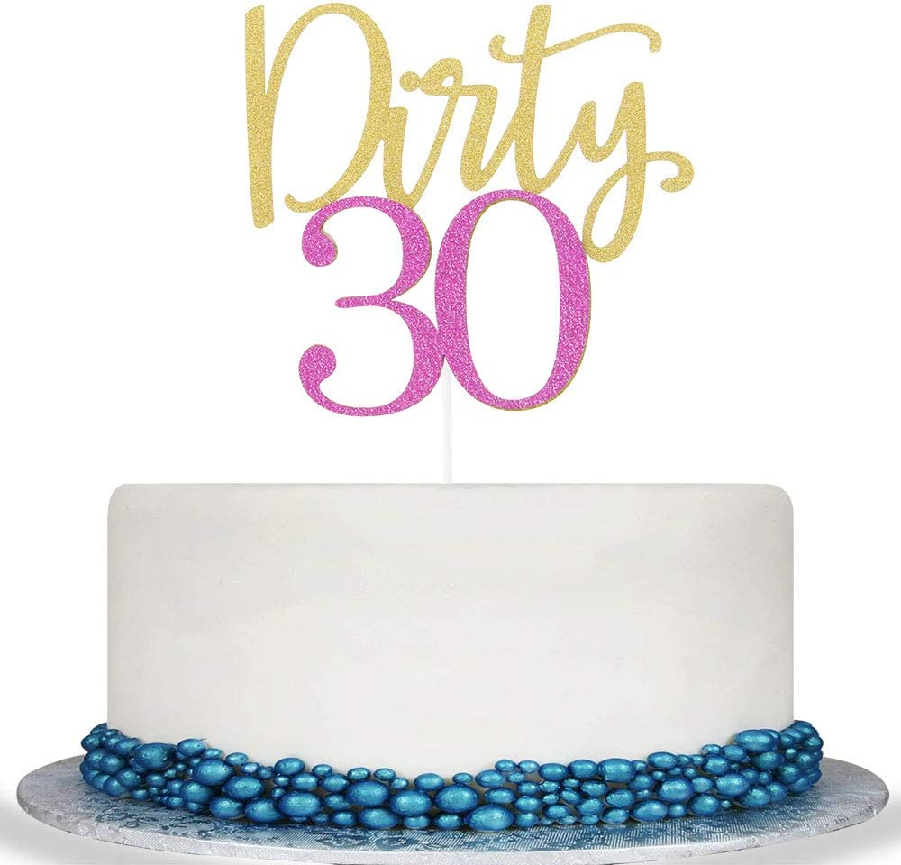 Fine Amazon Com Colorful Dirty 30 Cake Topper Cheer To 30 Years Cake Funny Birthday Cards Online Hetedamsfinfo