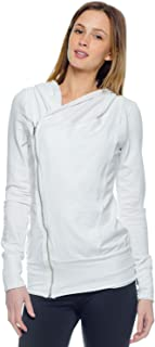 product image for Asymmetrical Hoodie-White-Large (L)