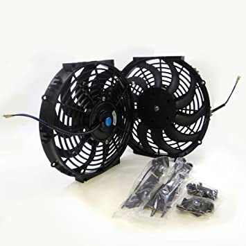 Universal 16 inch 12V volt Electric Cooling Fan Thermo Fan Mounting kits