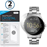 Fossil Q Marshal Screen Protector, BoxWave® [ClearTouch Crystal (2-Pack)] HD Film Skin - Shields From Scratches for Fossil Q Marshal, Wander