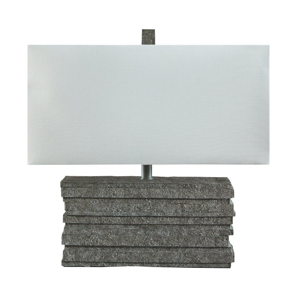Signature Design by Ashley L235544 Jamaal Rectangular Table Lamp, 15.0 x 15.0 x 27.0, Gray Ashley Furniture