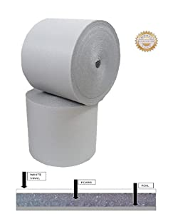 """US ENERGY PRODUCTS Reflective White Foam Insulation Heat Shield Thermal Insulation Shield Vapor Barrier 48""""x20ft (80 SQFT) 1/4inch Thick"""