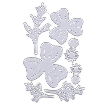 Amazingdeal365 Troqueles de corte de estampado de flores de plantas, Molde cortador de acero al carbono artesanal: Amazon.es: Hogar