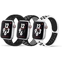 VIKATech Compatible Cinturino per Apple Watch Cinturino 44mm 42mm 40mm 38mm, Due Colori Morbido Silicone Traspirante Cinturini Sportiva di Ricambio per iWatch Series 5/4/3/2/1