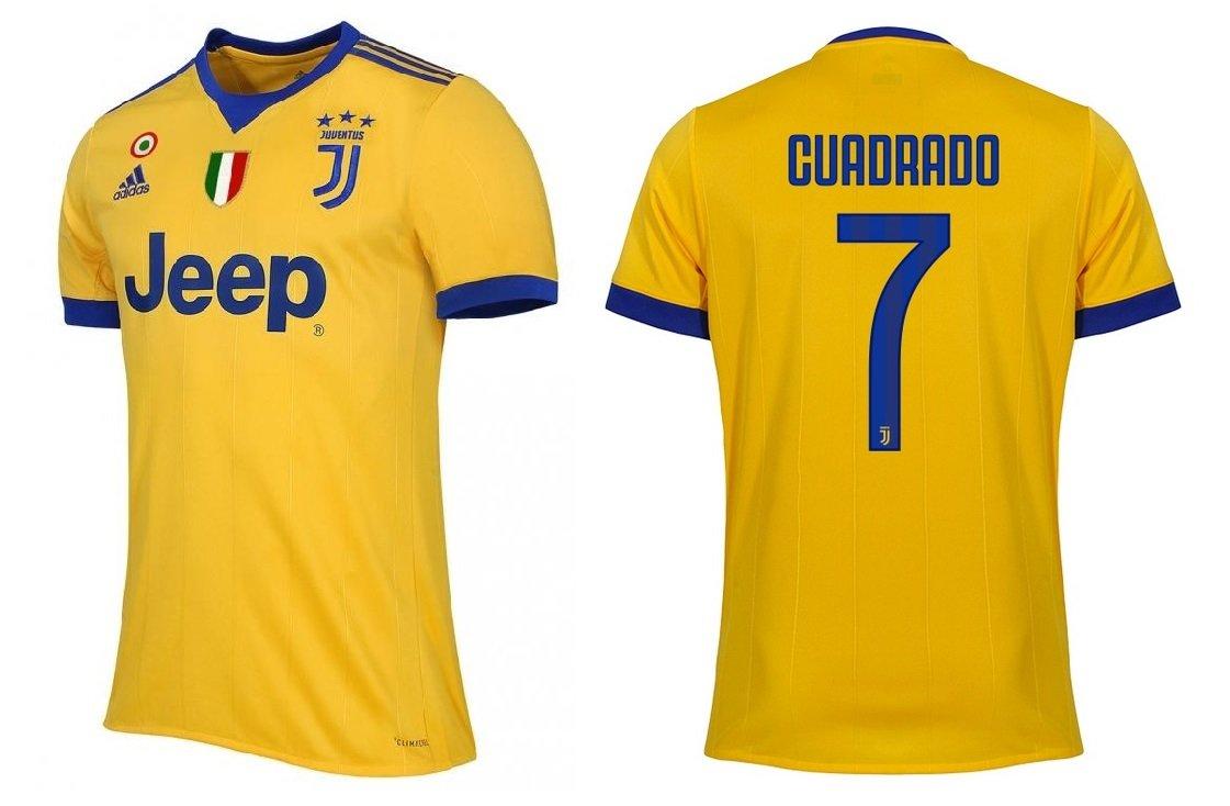 Trikot Kinder Juventus 2017-2018 Away Coppa Scudetto - Cuadrado 7