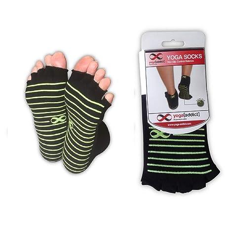 65315ad88862 YogaAddict Yoga Toeless Socks
