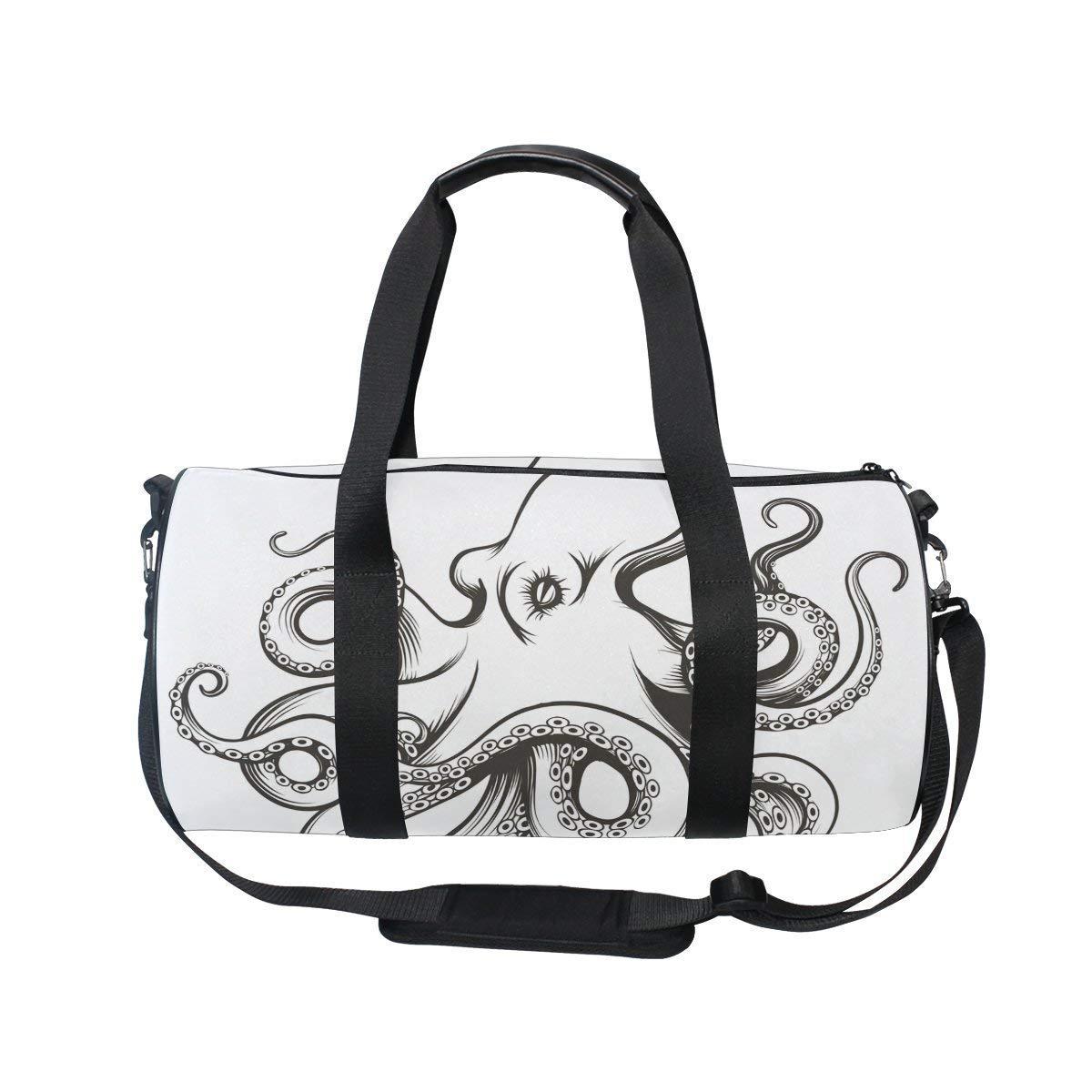 OuLian Gym Duffel Bag Flower Floral Sports Lightweight Canvas Travel Luggage Bag