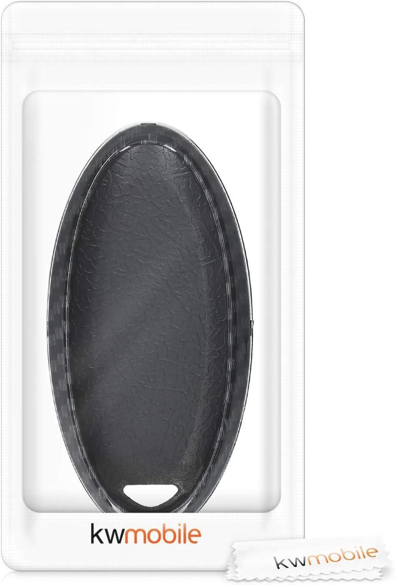 kwmobile Accessoire Cl/é de Voiture pour Nissan Coque pour Clef de Voiture Nissan 3-Bouton en Plastique /Étui de Protection Rigide Noir