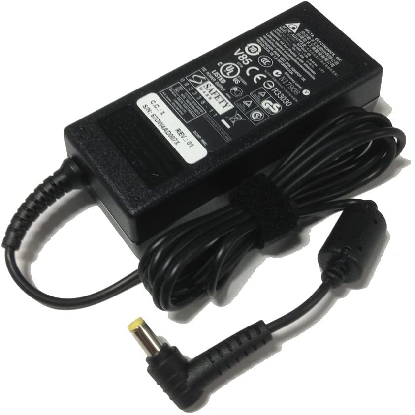 Genuine Delta 65W 19V 3.42A Laptop AC Adapter/Power Supply/Charger for Acer Aspire 1200 1410 1640 1680 3050 3100 3610 3680-2682 4315 4530 4710 4715z 4720Z 4720g 4730z 5001 5030 5102 5315-2142 5315-2326 5315-2373 5510 5517 5570Z 5580 5600 5670 5710 5735 5735z 6920 6920-6610 6920-6621 6920g zg5, with Free Power Cord (including free bag pouch)