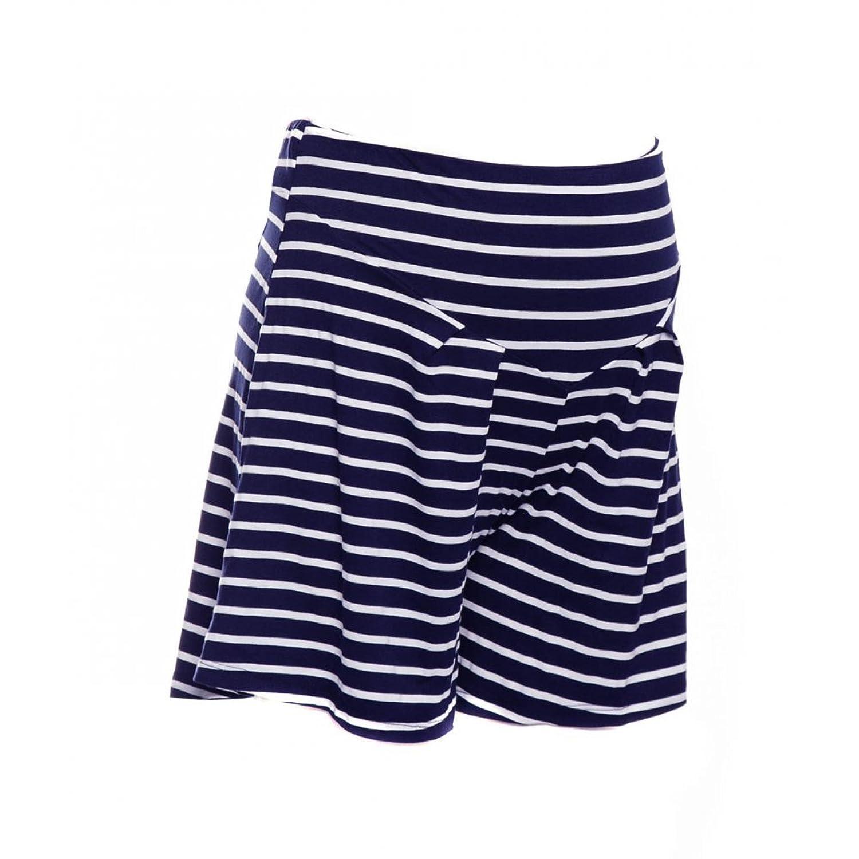 Heavenly Bump Stripe Jersey Short - Navy & White Stripe