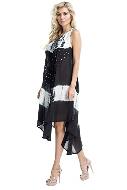 2d9e959d00 Image Unavailable. Image not available for. Color: La Moda Clothing  Lightweight Tie Dye Umbrella Dress Cover up | GOGA Swimwear