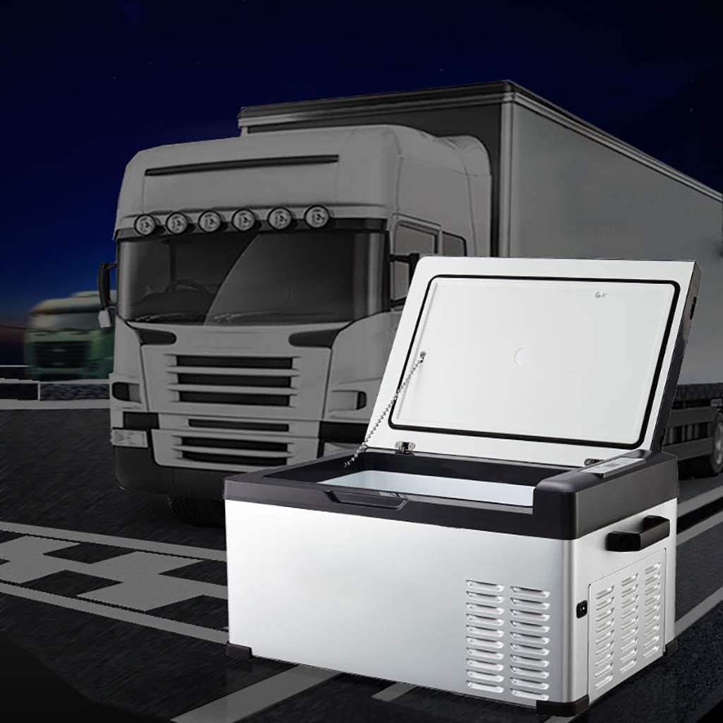 Dimensione: 57x32x26cm Frigorifero del compressore Portatile da 15 Litri Dispositivo di Raffreddamento del congelatore//Frigorifero dellautomobile 12v 24v Dc 220v CA per i Camion//Viaggio