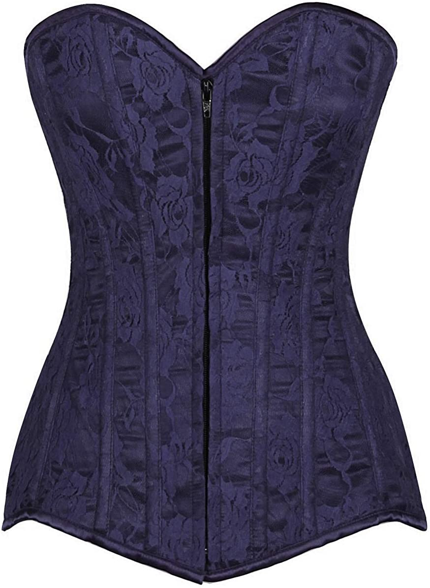 Daisy corsets Lavish Brown Lace Overbust Corset