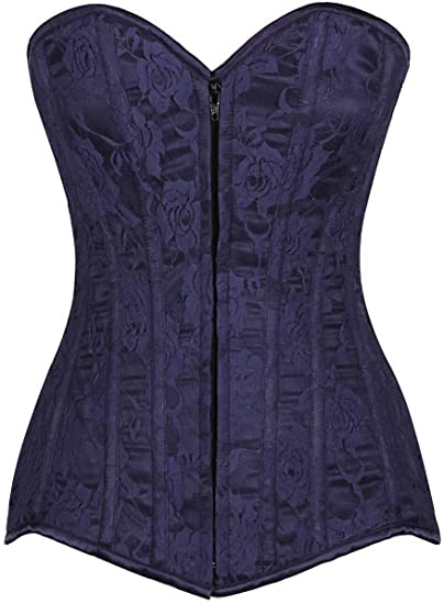 9e39fa5c44a Image Unavailable. Image not available for. Color  Daisy corsets Lavish  Plus Size Navy Blue Lace Overbust ...