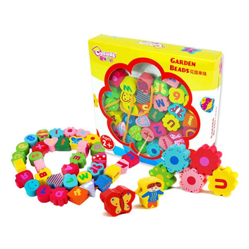hibote Wooden Puzzle Alphabet Board, ABC en bois Toddler, préscolaire et maternelle Puzzle Toy