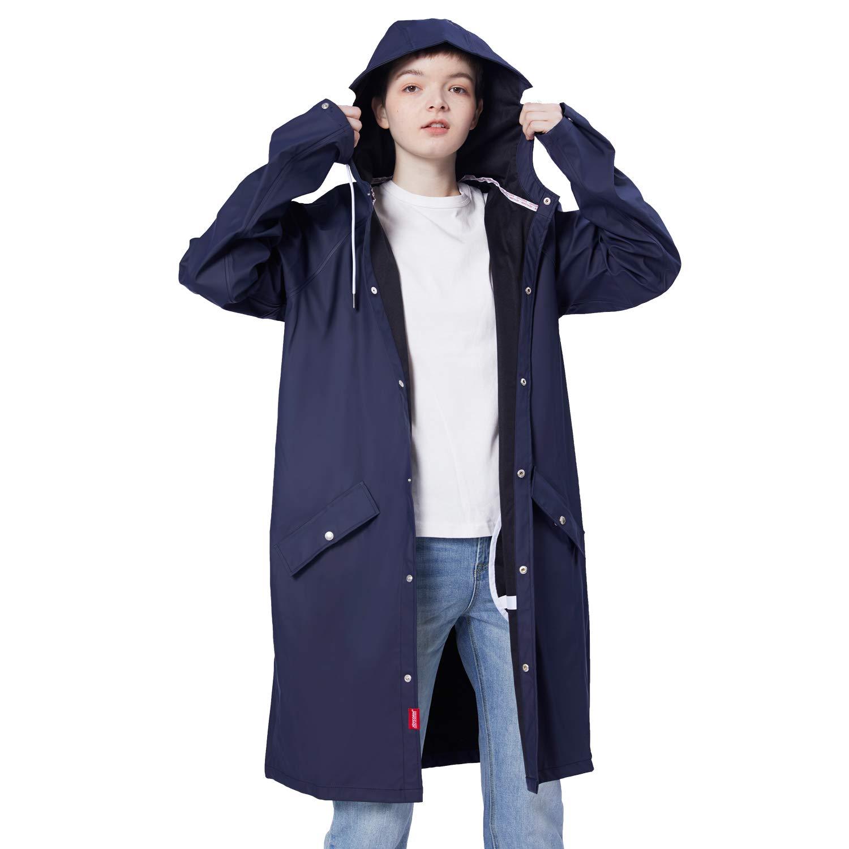 JOYCORN Rain Jacket Women Raincoat Lightweight Hooded Active Outdoor Unisex