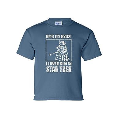 bd3a3426651 OffWorld Designs Youth OMG Loved Him Sci-fi Classic T-shirt Indigo Blue (