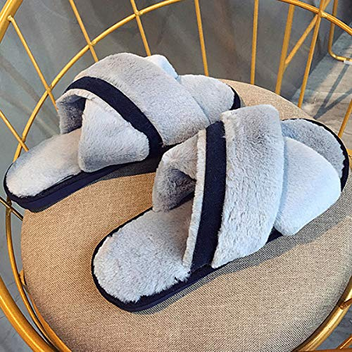 Hiver Plate Fourrure AiSi Femme Sandale Faux qv7OTw