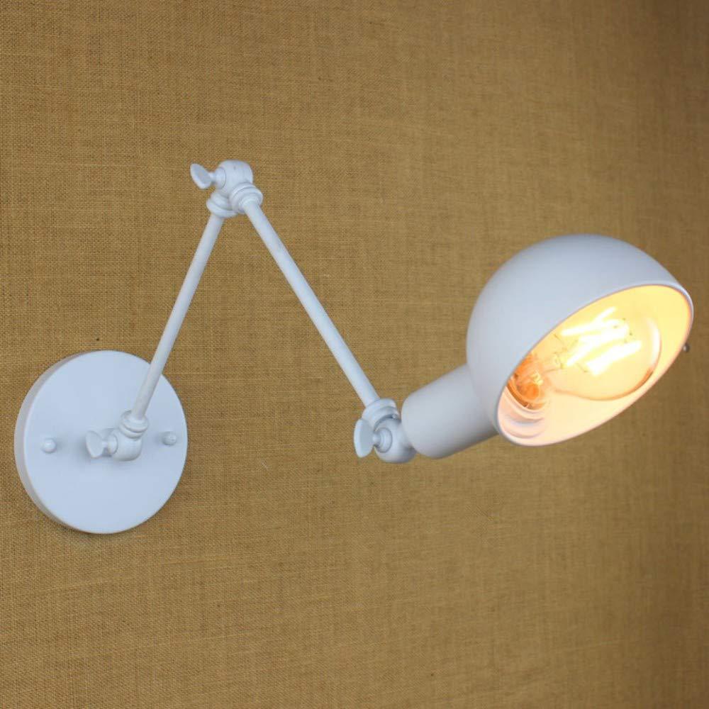 Weiße lange LED-Wandleuchte aus Eisen mit langem Arm