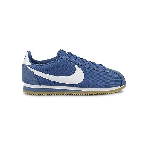 huge selection of 74166 89b43 Zapatillas Nike Classic Cortez Nylon Azul Blanco Hombre 43 Azul  Amazon.es   Zapatos y complementos
