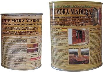 ACEITE MORA MADERA SATINADO INCOLORO 1 L: Amazon.es: Bricolaje y ...