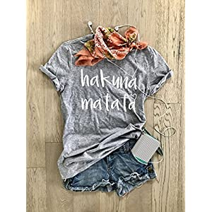 Hakuna Matata. Don't Worry. Happy Shirt. Disney T Shirt. Cool T Shirt. Gift Shirt. Women's T Shirt. Unisex Fit. Crew-Neck Shirt.