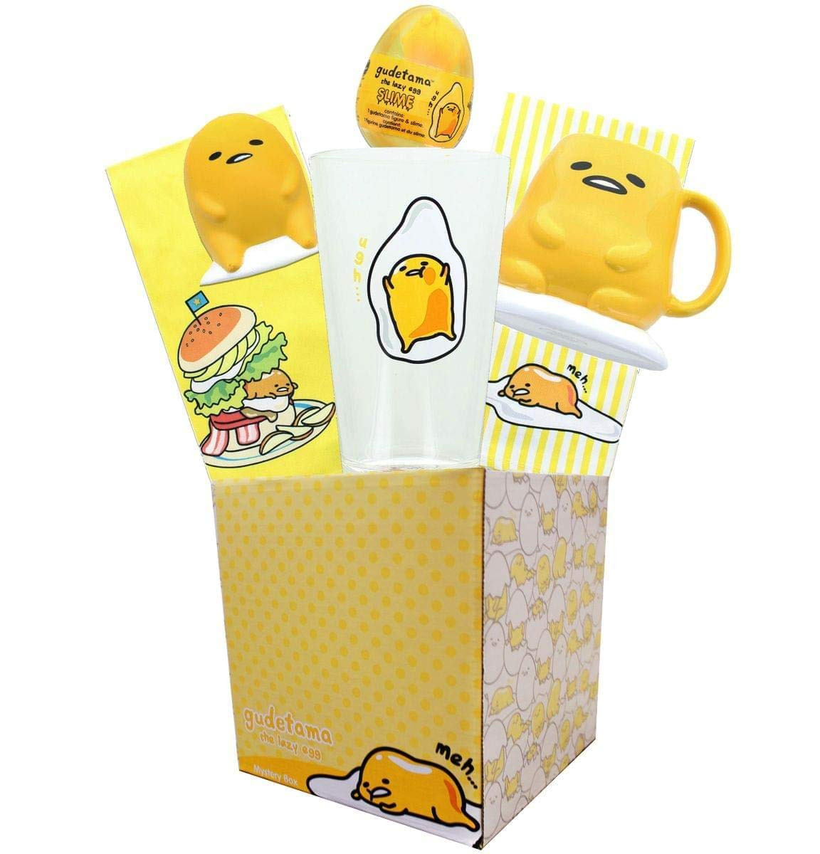Gudetama Collectibles | Gudetama the Lazy Egg LookSee Collector's Box