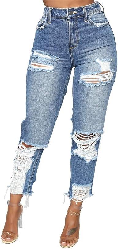 Amazon Com Shinfy Pantalones Vaqueros De Mezclilla Elastica Para Mujer Clothing