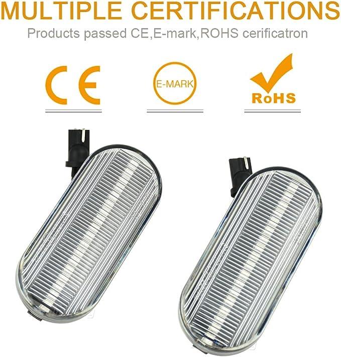 Luces laterales indicadoras dinámicas LED intermitentes para ...