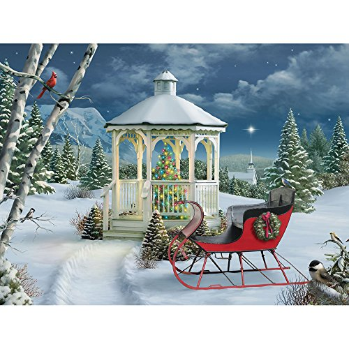 Bits and Pieces - 500 Piece Jigsaw Puzzle for Adults - Season of Peace - 500 pc Christmas Winter Holiday Sleigh Jigsaw by Artist Alan Giana