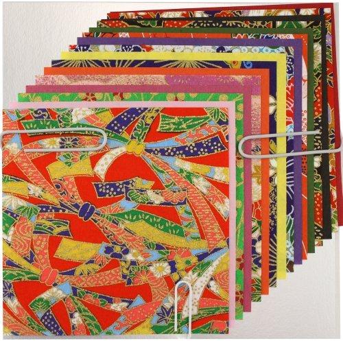 Yuzen Origami Paper - Washi Chiyogami Designs Assortment by KURASAWA