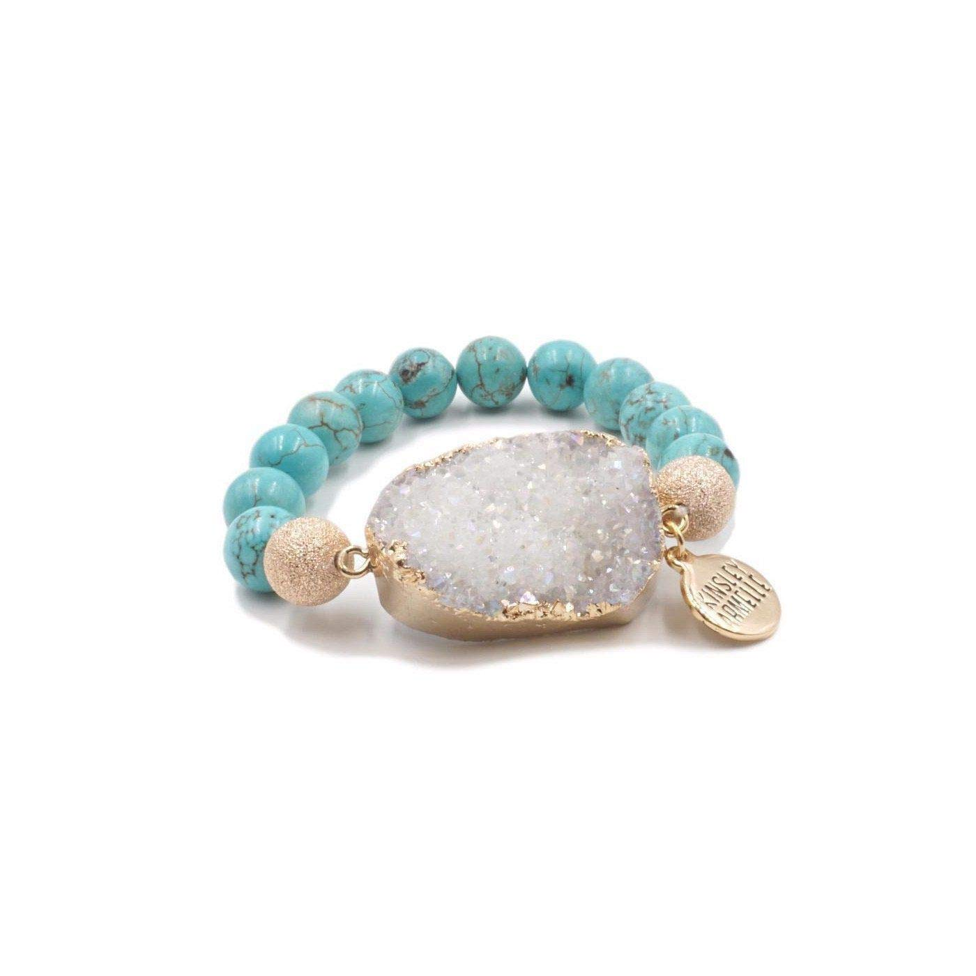 Kinsley Armelle Stone Collection - Aqua Marine Bracelet