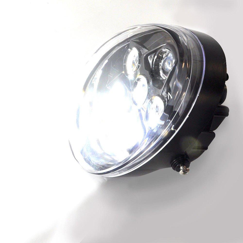 60W Motorrad LED Scheinwerfer Kompatibel mit Davidson VRSC VROD V-ROD VRSC VRSCA VRSCSE 2002-2017,Schwarz