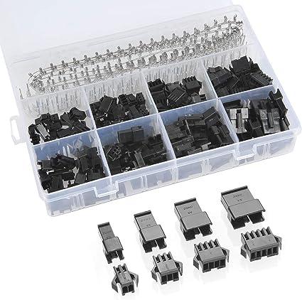 DuPont 2.54mm Plugs 1 2 3 4 5 6 7 8 9 10 Male Female Connector Crimp Terminals