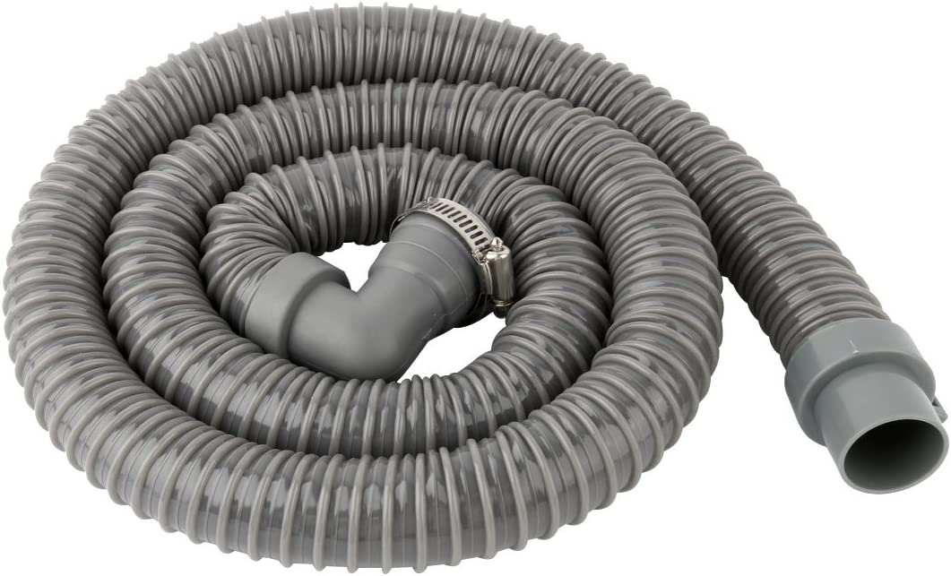 uxcell Room PVC Washing Machine Drain Hose Extension Kit, Universal Fit All Drain Hose 4.9 Ft