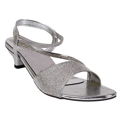 f966716ac02 Footshez Women s Silver Heel Sandal  Buy Online at Low Prices in ...