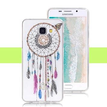 Yunbaozi Funda para Samsung Galaxy A3 2016, Carcasa de Silicona Flexible Suave Transparente TPU Case - Campanas de Color