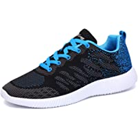 Lavibelle Mens Lace Up Trainers Mesh Lightweight Road Running Shoes