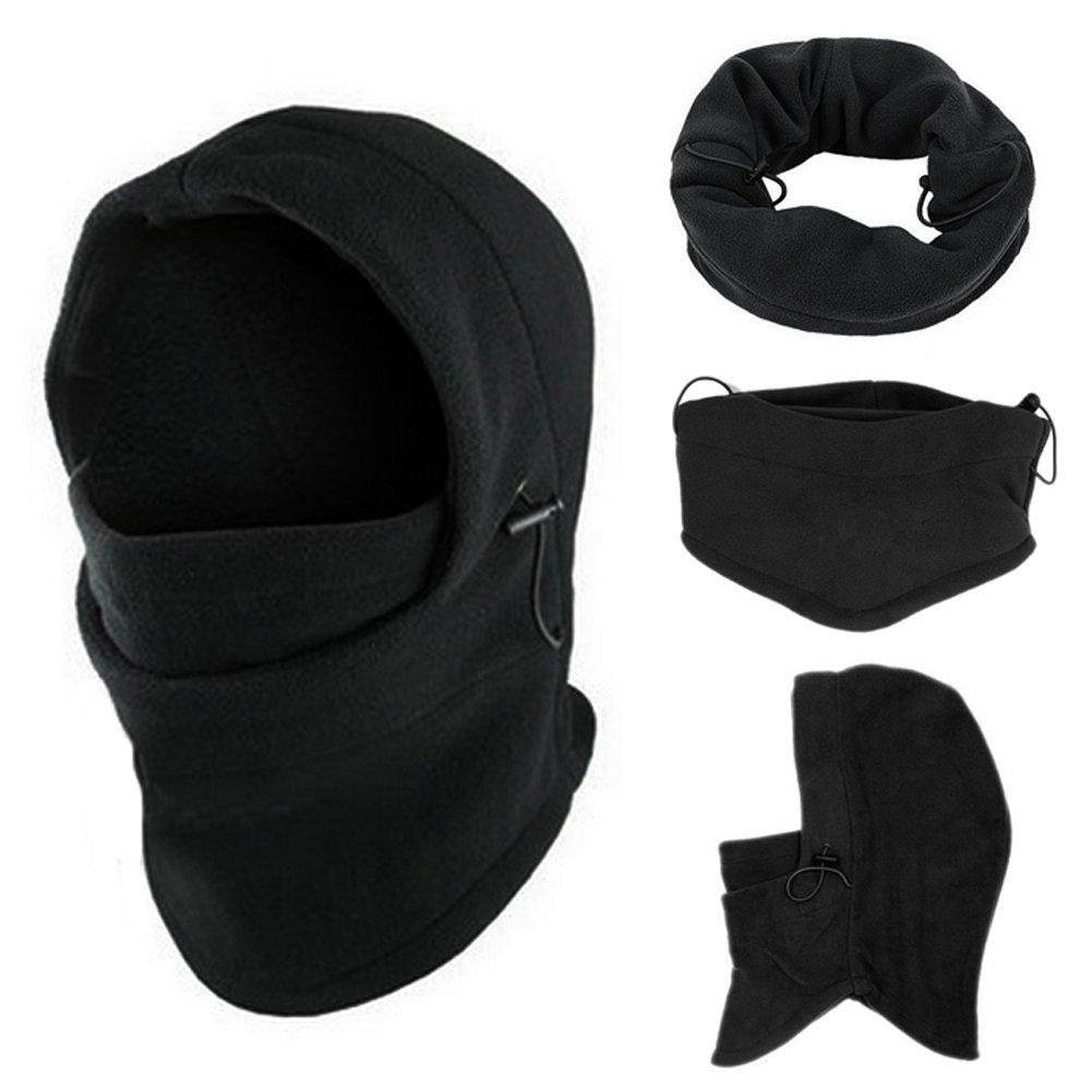 Trendyest - Máscara Térmica de Forro Polar para Paracaídas de Policía, esquí, Bicicleta, Parabrisas esquí