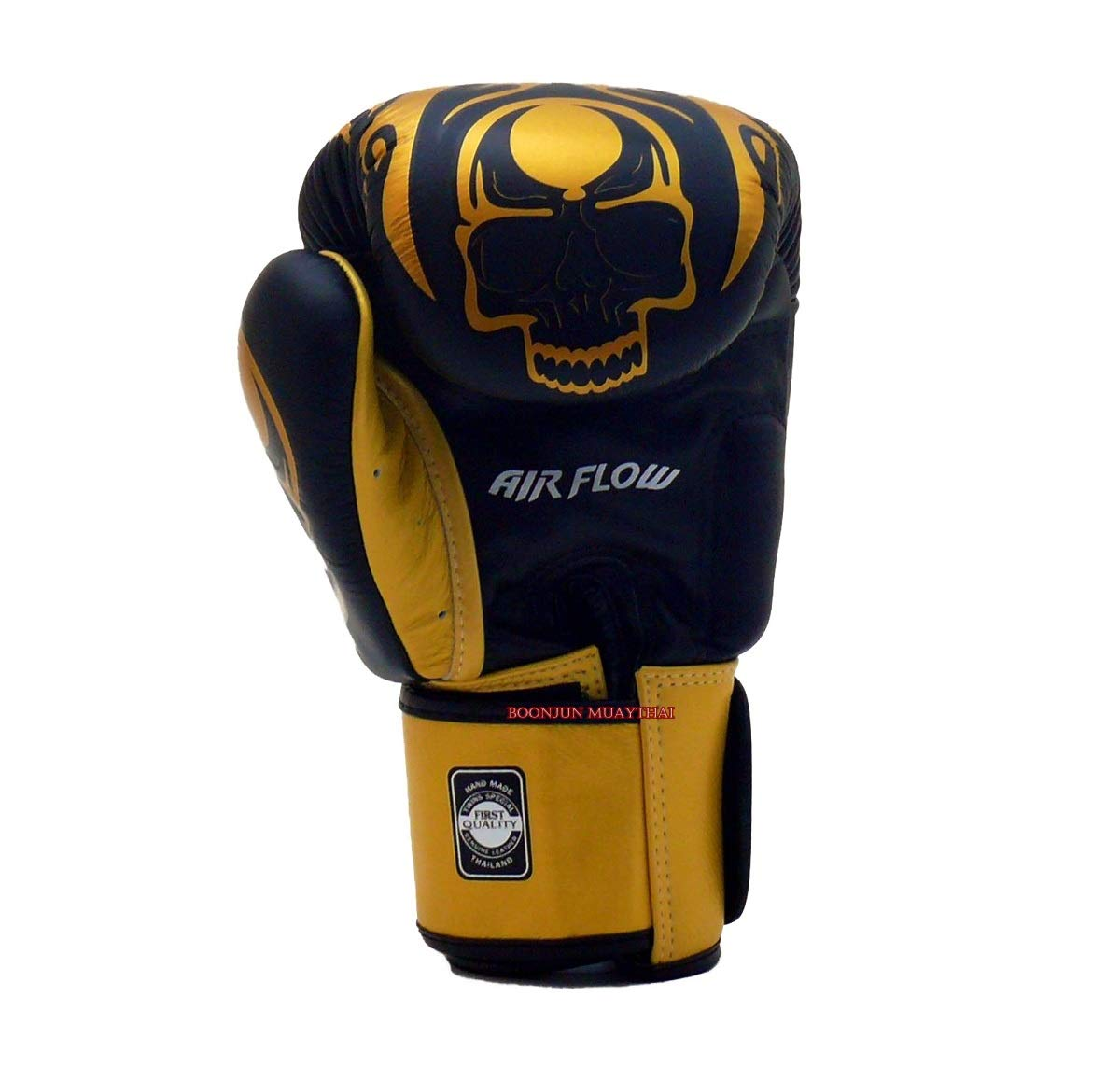 Univesal Gloves for Training or Sparring. Skull Black//Gold, 14 oz Twins Special Muay Thai Boxing Gloves BGVLA 2 Air Flow Gloves