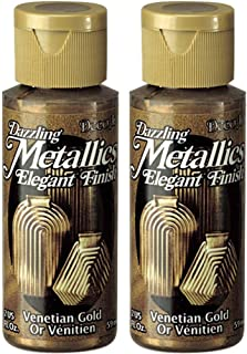product image for 2-Pack - DecoArt Dazzling Metallics Acrylic Colors - Venetian Gold, 2-Ounces Each
