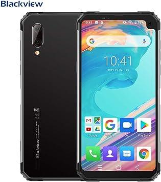 Blackview BV6100 (2019) Móvil Libre Resistente, Pantalla Grande de 6.88 Pulgadas (Dual Gorilla) Smartphone 3GB + 16GB, Android 9.0, IP68 / IP69K Impermeable/Antigolpes, Batería de 5580 mAh, NFC Plata: Amazon.es: Electrónica