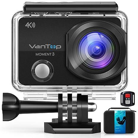 VanTop - Cámara de acción 4 K WiFi con tarjeta TF de 32 GB ...
