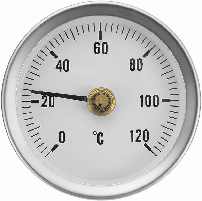 5 x Thermometer Zeigerthermometer Clip 0-120 ℃ Analog und Bimetall Bereich