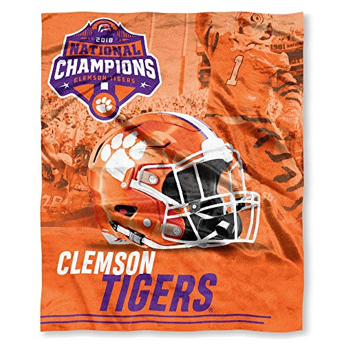 The Northwest Company Clemson Tigers 2018 NCAA National Football Champions Silk Touch Throw Blanket ()