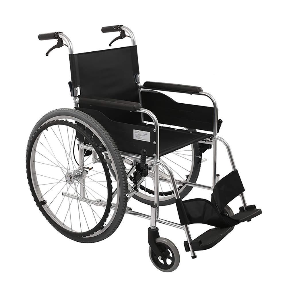 車椅子折りたたみポータブル超軽量老人マニュアル輸送車椅子スクーター   B07HG5F3HG